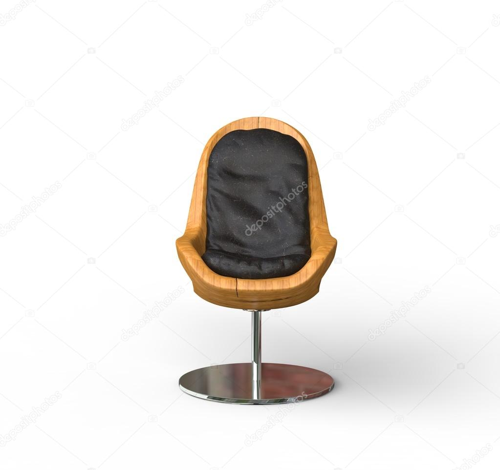 modern wooden chair front view. Modern Wooden Armchair - Front View \u2014 Stock Photo Chair W