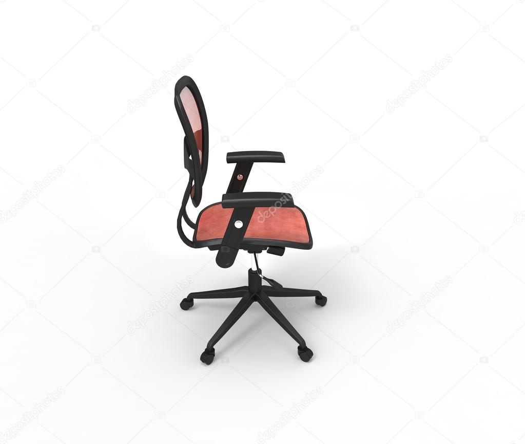 Red Office Chair - Side Top View — Stock Photo © Trimitrius #83375048