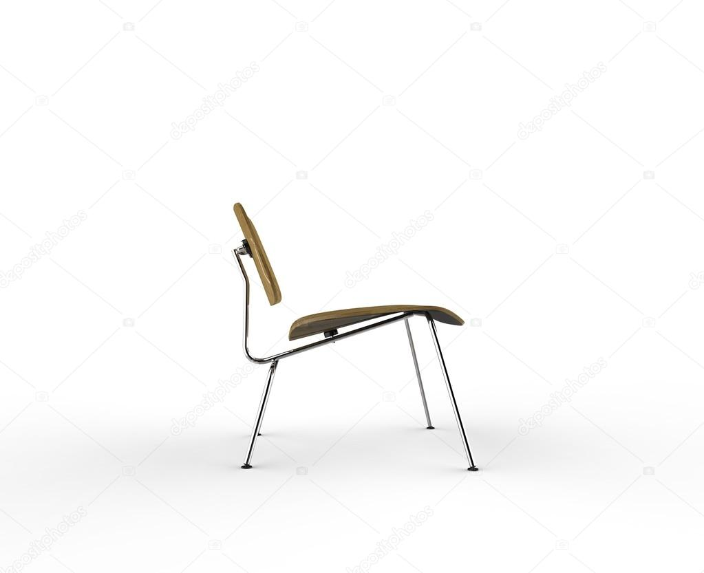 Modern Wooden Chair   Side View U2014 Stock Photo