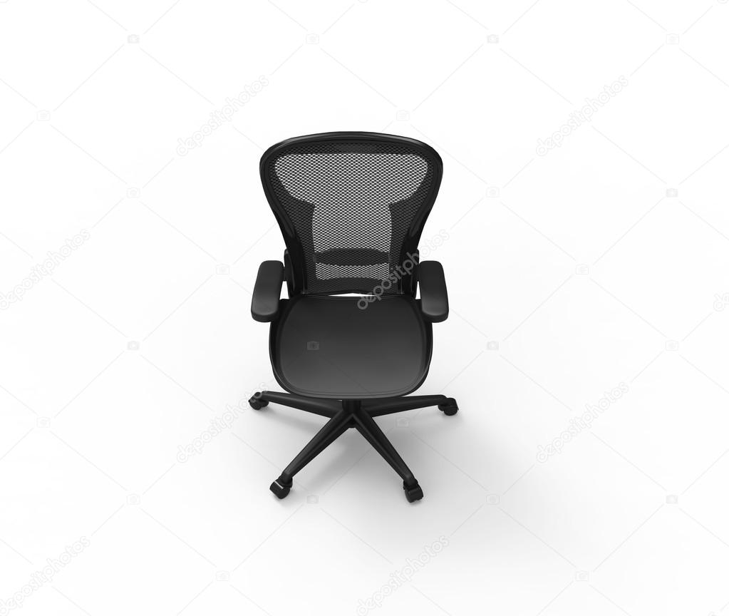 Black Modern Office Chair - Top View — Stock Photo © Trimitrius ...