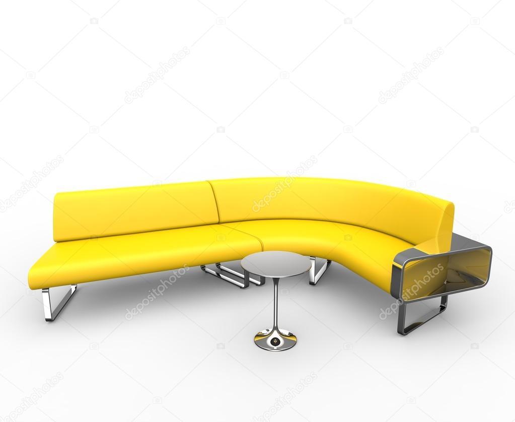 canap courbe jaune image de trimitrius - Canape Courbe