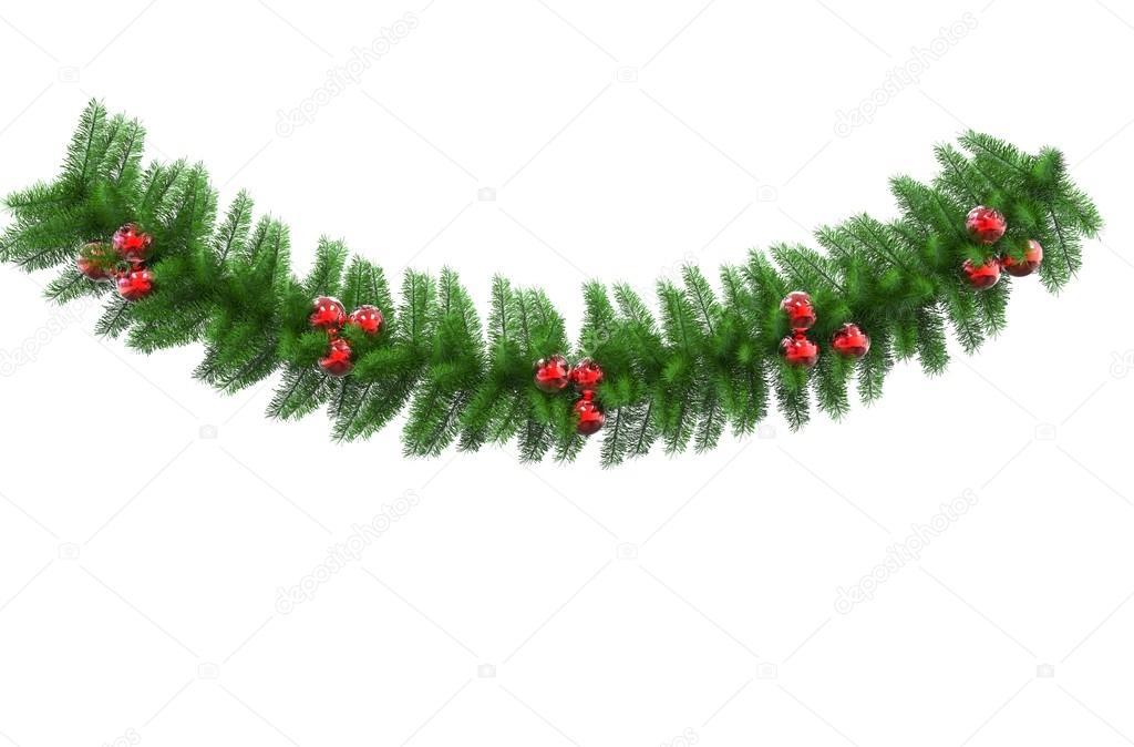 Kerstdecoraties Met Rood : Groene kerstdecoratie met rode baulbs u stockfoto trimitrius
