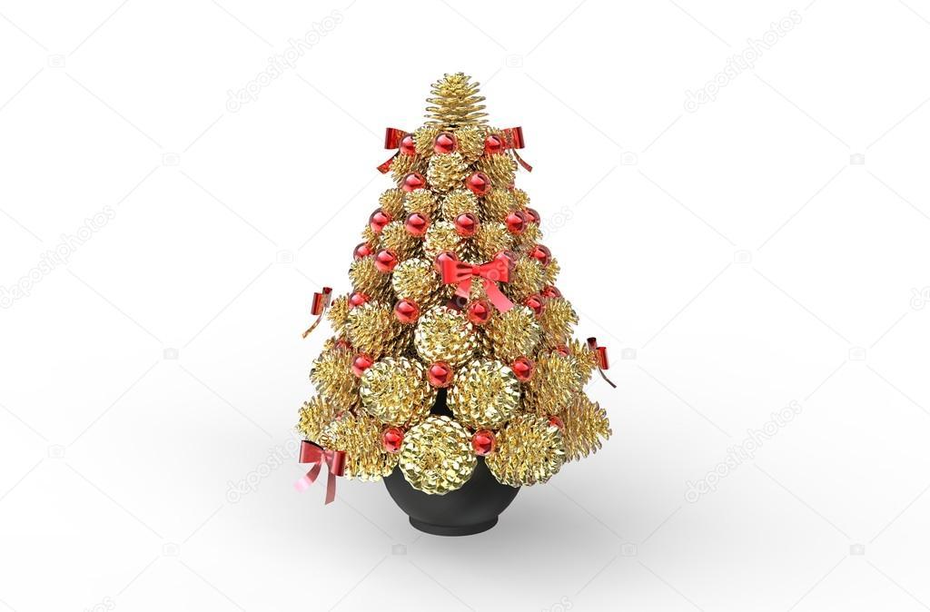 golden pine cones christmas decoration stock photo trimitrius