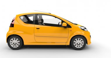 Small Yellow Car - Side View