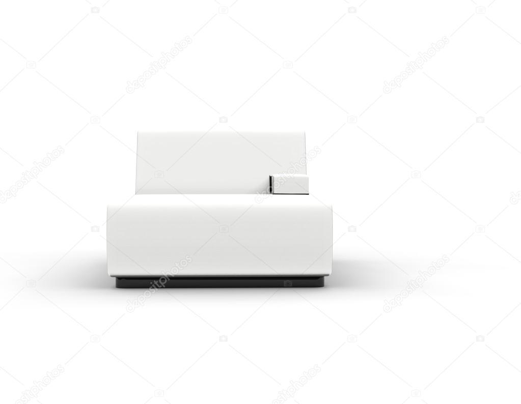 Moderne wit lounge geïsoleerd op een witte achtergrond
