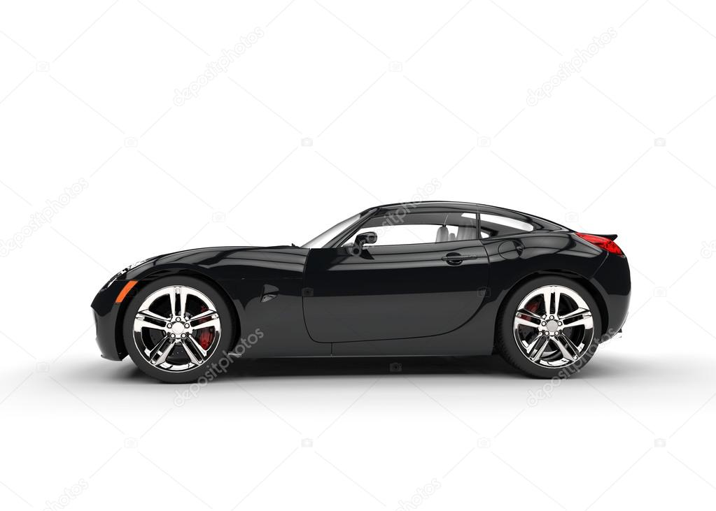 Black Fast Muscle Car Side View Stock Editorial Photo C Trimitrius