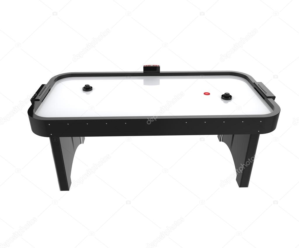 Air Hockey Table Isolated On White Background   Side View. U2014 Photo By  Trimitrius