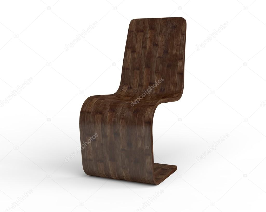 modern wooden chair front view. Modern Wooden Chair Isolated On White Background - Front View. \u2014 Stock Photo View