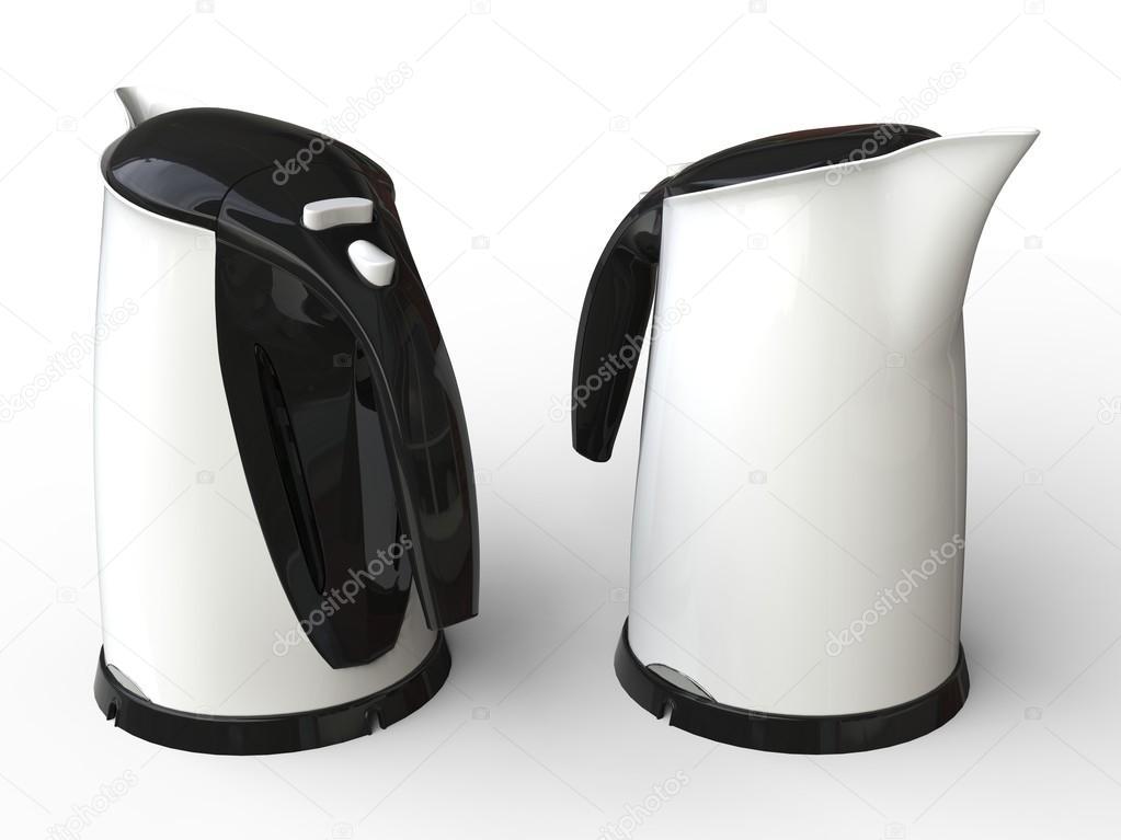 Wasserkocher Modern zwei moderne wasserkocher weiß stockfoto trimitrius 92282110