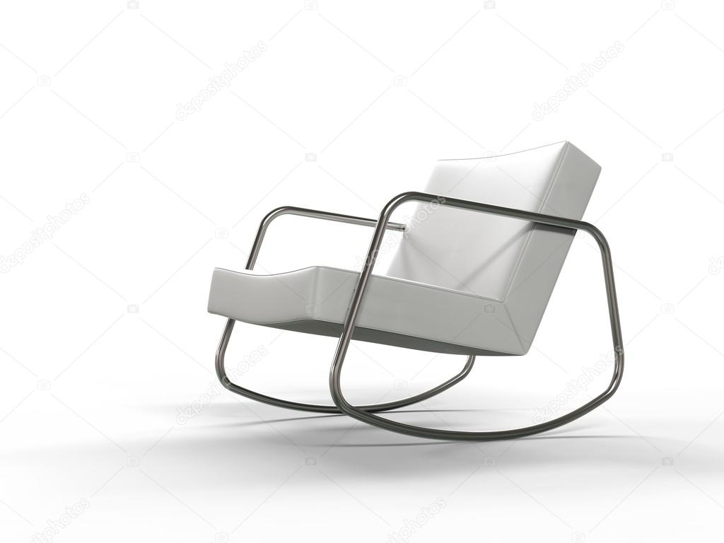 Moderne witte lederen fauteuil u stockfoto trimitrius