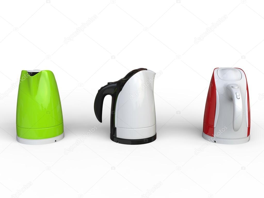Moderne Wasserkocher drei moderne wasserkocher stockfoto trimitrius 92282308