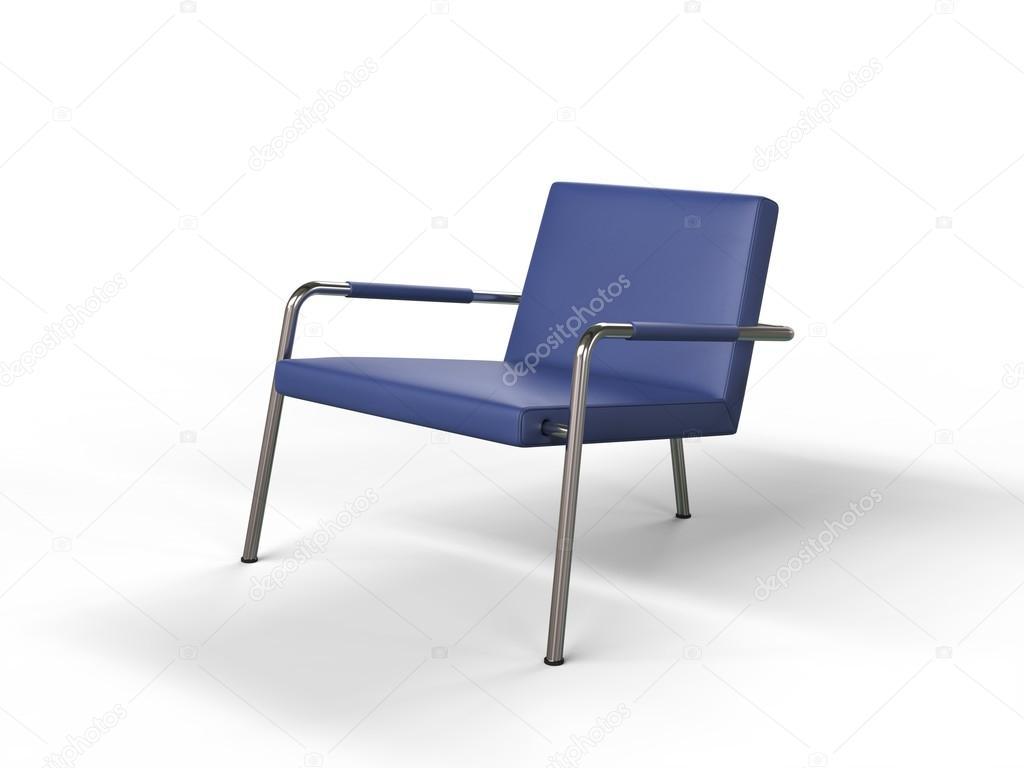 Blauw Leren Stoel.Blauw Leren Stoel Stockfoto C Trimitrius 92282368