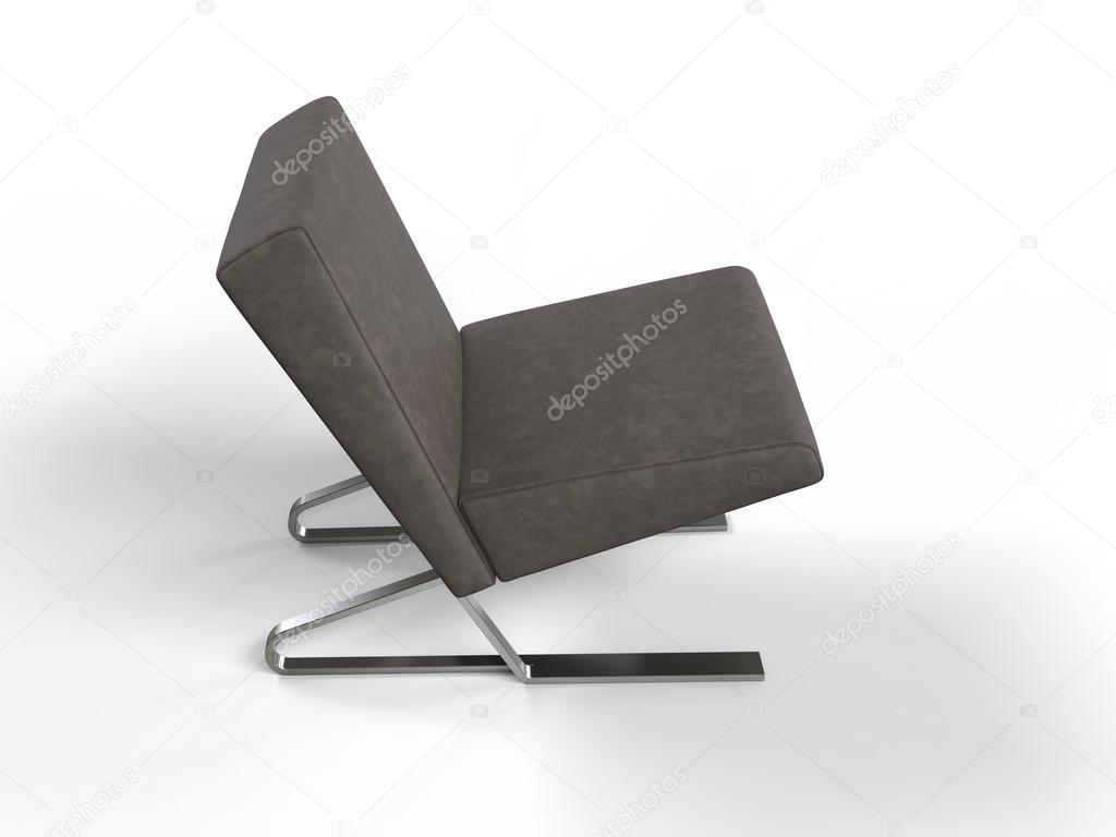 Modern brown leather armchair - top view — Stock Photo ...