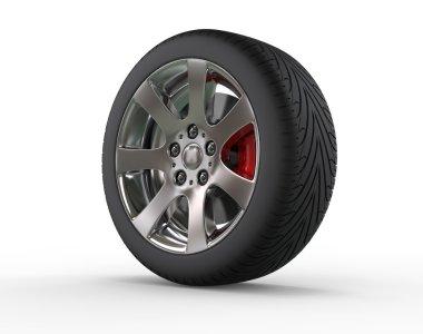 Car wheel - close up stock vector