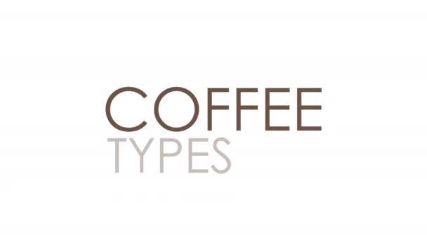 betűtípus a kávé nevéből animált kávéitalok