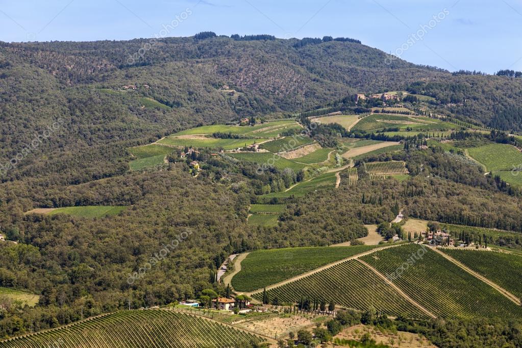 Landscapes of Tuscany in Radda Chianti