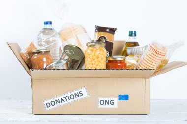 Box of food to donate