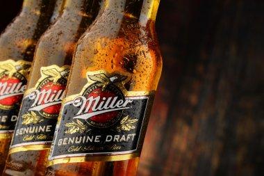 Bottles of Miller Genuine Draft beer