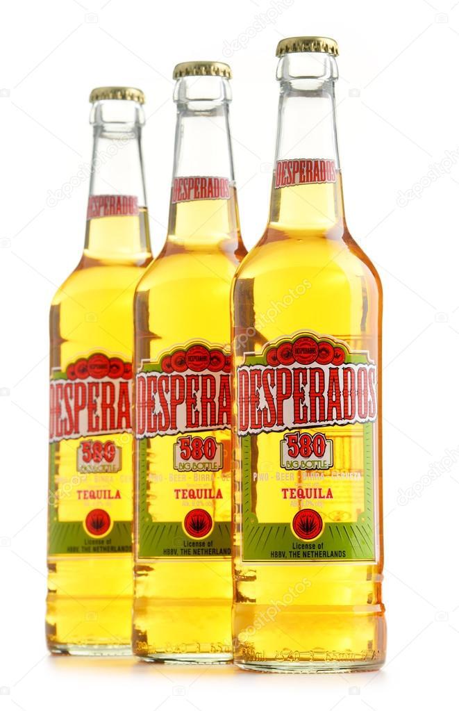 Three Bottles Of Desperados Beer Isolated On White Stock Editorial Photo C Monticello 116903580