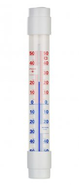 Alcohol thermometer isolated on white background