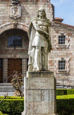 King Pelayo (Christian king of Asturias) in Covadonga Sanctuary,