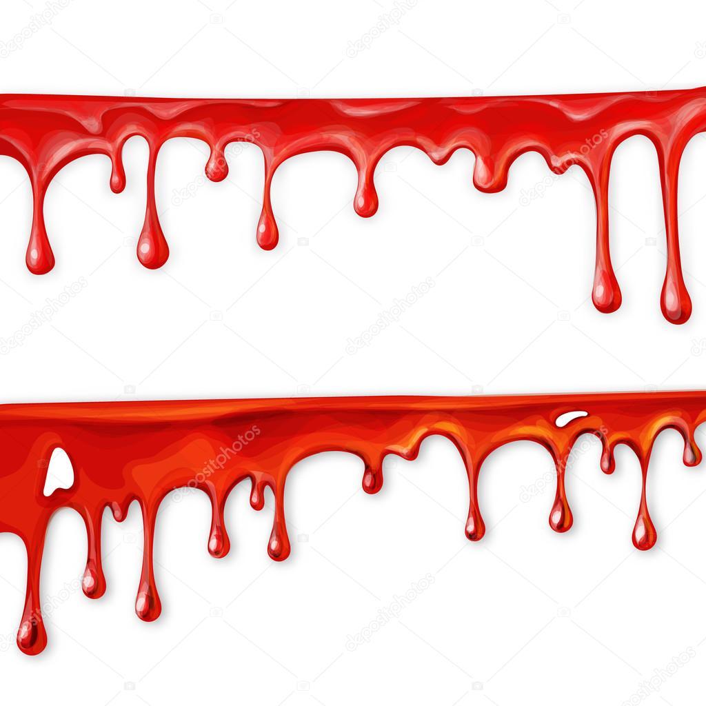 Sang qui coule en mouvement sang qui coule vers le bas - Peinture qui ne coule pas ...