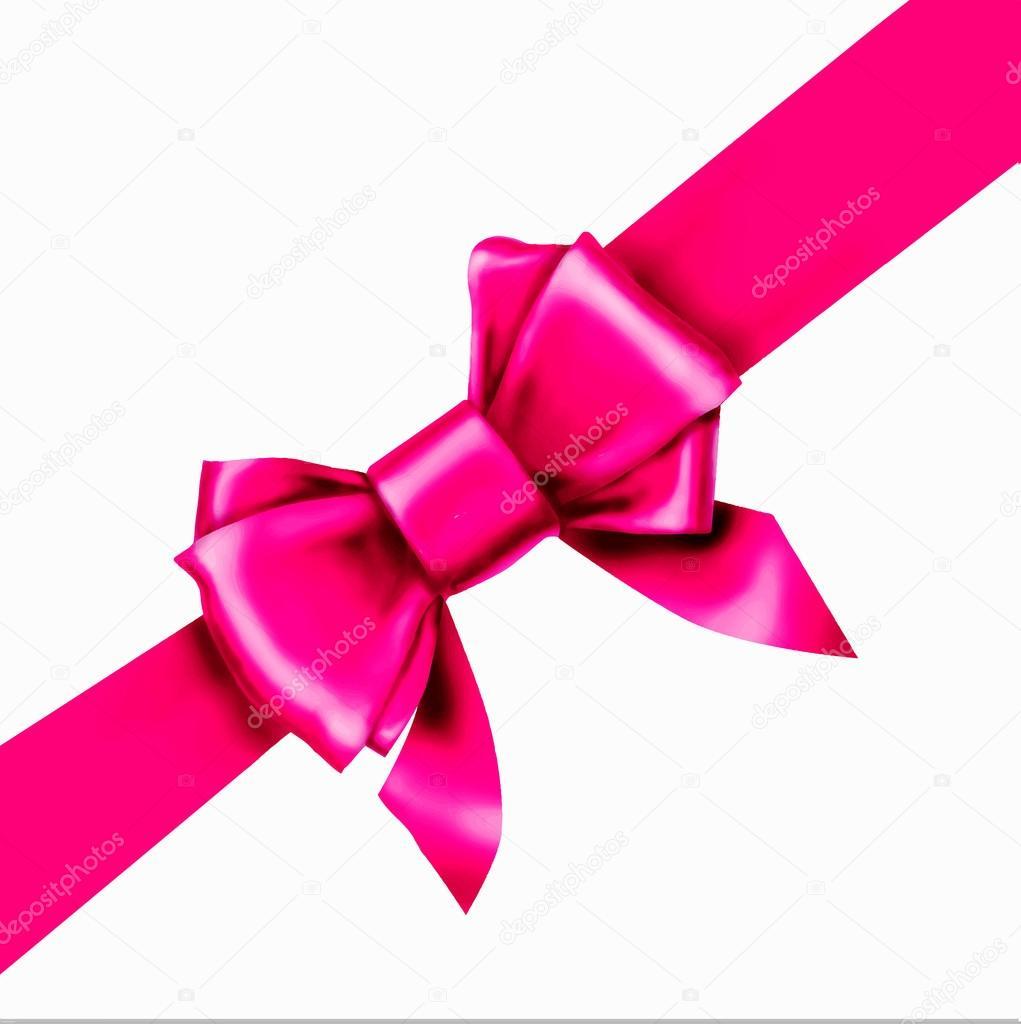 Pink Bow Ribbon Gift Vector Stock Vector C Tanshy 72881363