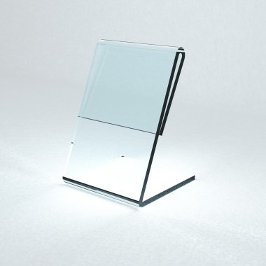 Acrylic card holder for events isolated transparent object with