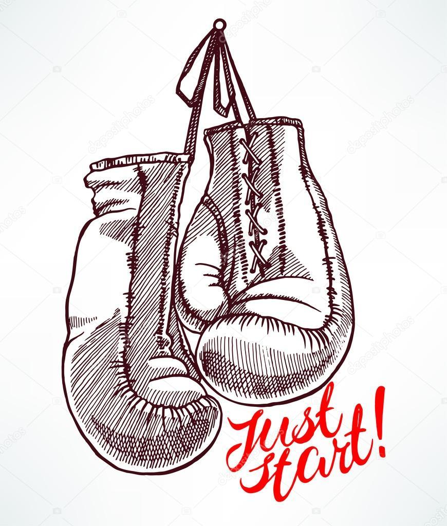 sketch boxing gloves stock vector grey ant 100391776. Black Bedroom Furniture Sets. Home Design Ideas