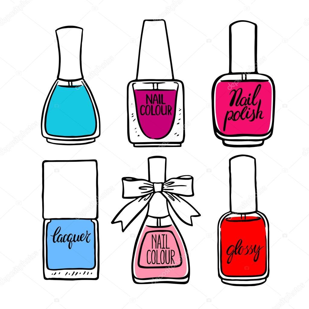 smalti colorati schizzo vettoriali stock  u00a9 grey ant manicure clipart free manicure clip art background