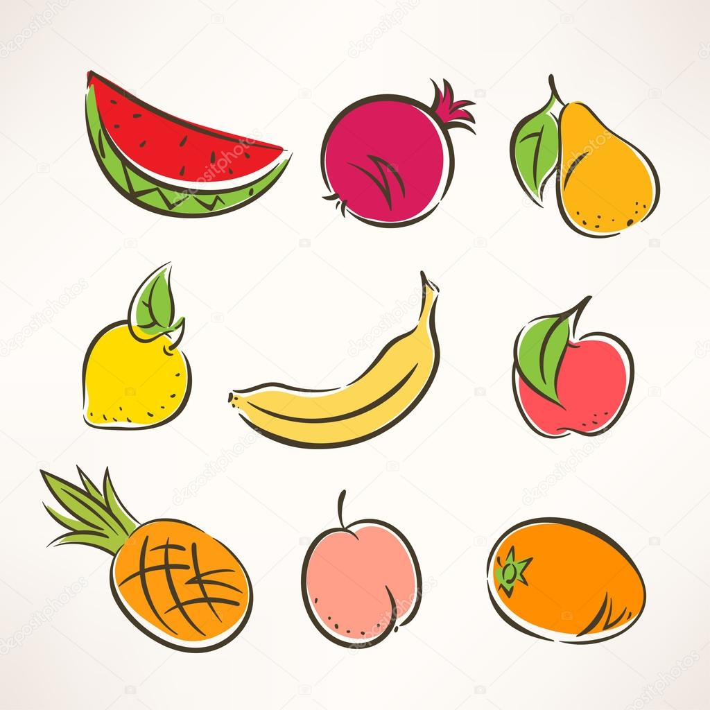 stylized fruits - 2