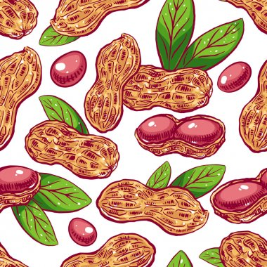 seamless background with peanuts
