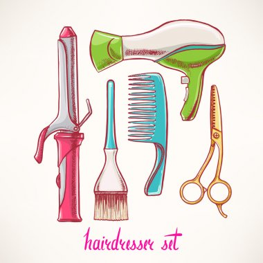 Set with accessories hairdressing - 2