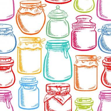 seamless colorful mason jars - 2