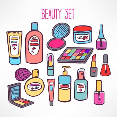 set with cosmetics and products for body care - 2