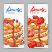 Fotografie Two banners with appetizing pancakes