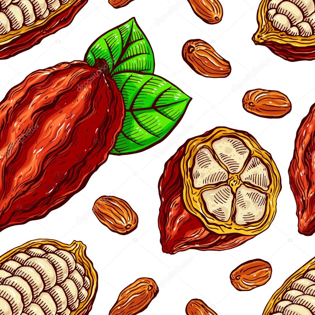seamless cacao beans