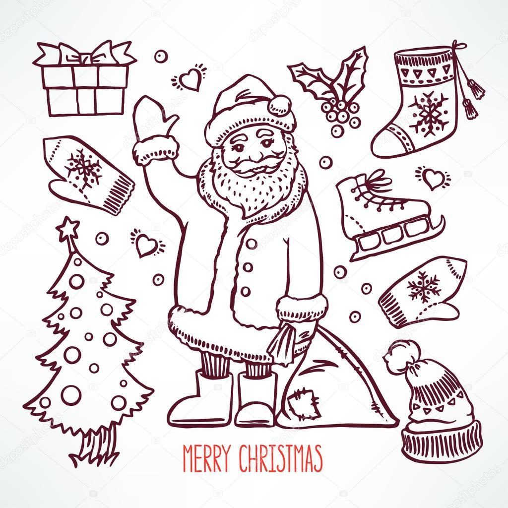 Legen Sie Weihnachten Sketch — Stockvektor © Grey_ant #90702660