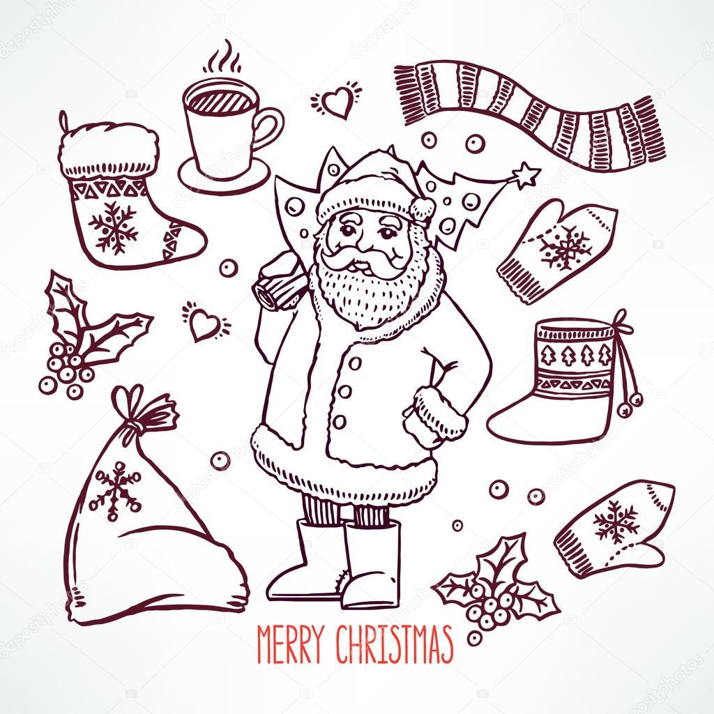 Legen Sie Weihnachten Sketch — Stockvektor © Grey_ant #92423912