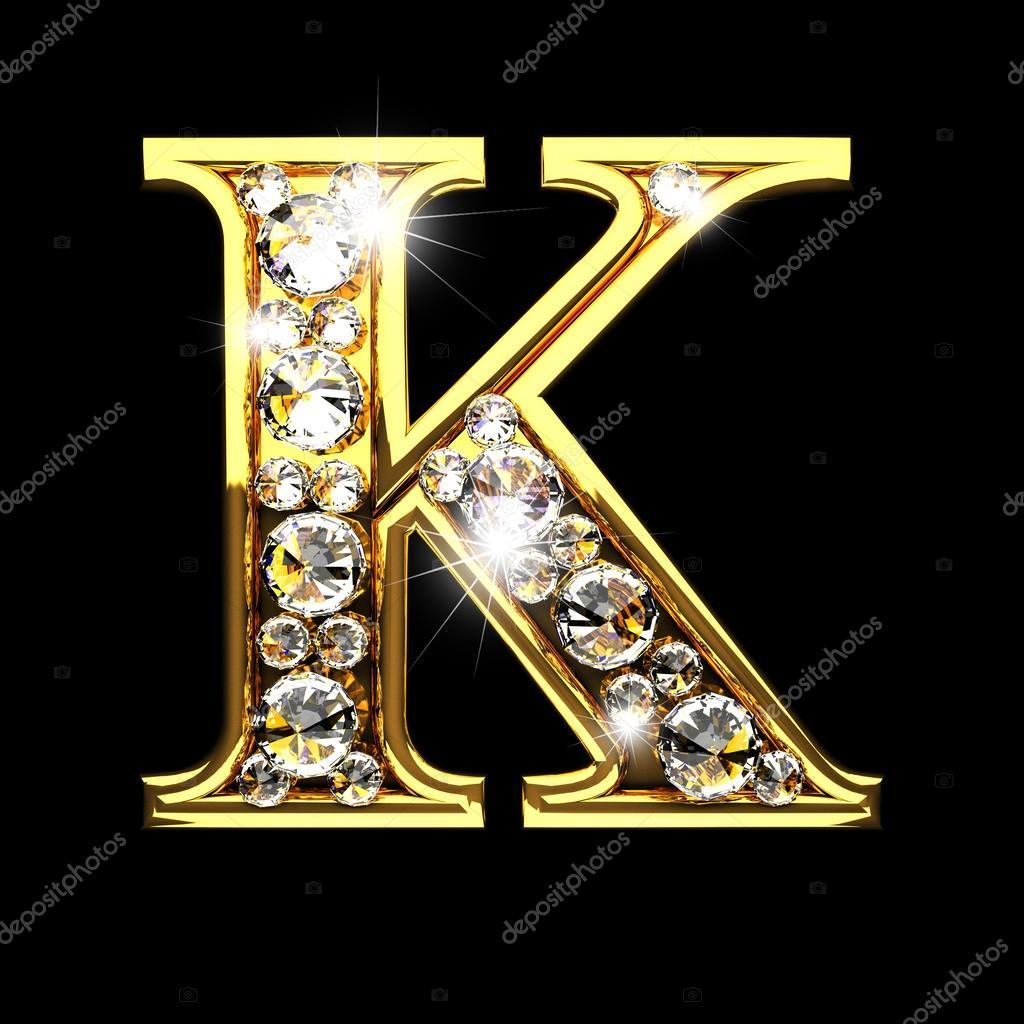 M Alphabet Diamond Studded 18K Yellow Gold Ring
