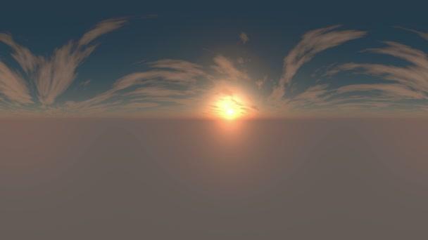 360 fokos panoráma ég és a felhők. készen áll a használatra 3d környezet feltérképezése és 360vr