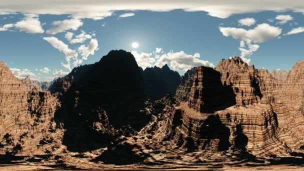canyon timelapse panoráma. a kamerával egy 360 fokos lencse minden varrás nélkül készült. készen áll a virtuális valóság 360