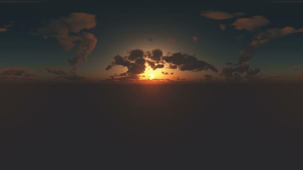 360 fokos panoráma ég és a felhők, a naplemente. készen áll a használatra 3d környezet feltérképezése