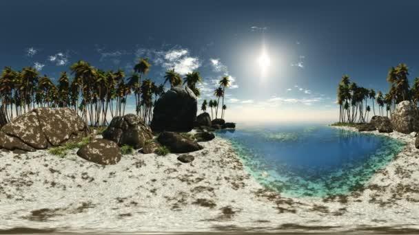 panorámás, tropical Beach. ne 360 fokos lencse a mozgó kamera minden varrás nélkül készült. készen áll a vr 360 virtuális valóság