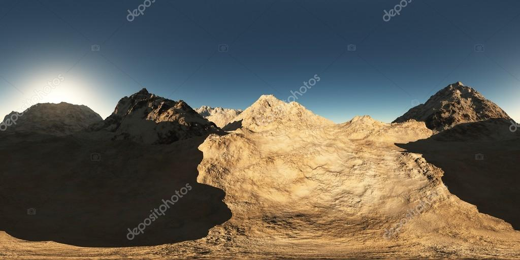 panorama of mountains. made with the one 360 degree lense camera