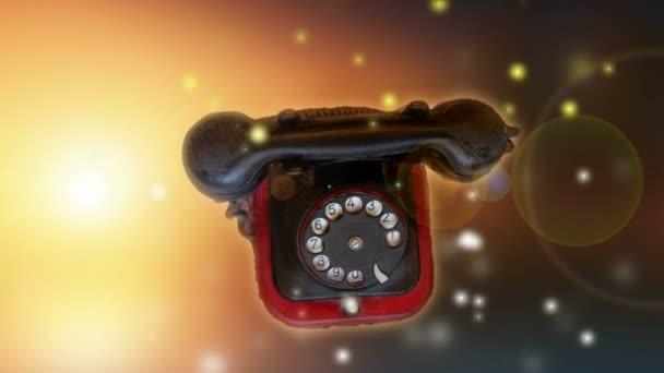 retro ve věku telefon na sluneční světlo