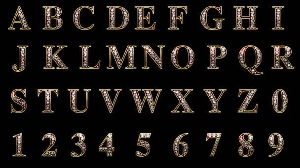 Loop alfa matné diamanty abeceda sada