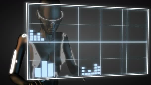 Robot manipulatihg hologram displej