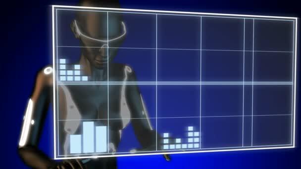 DNA model on hologram