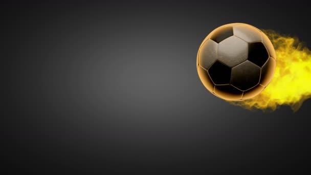 Égő futball-labda